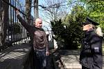 Prevence Policie na Olšanských hřbitovech 14.dubna