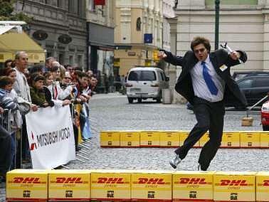 Běh kancelářských krys se těší v Praze značné popularitě. Tento se konal již počtvrté.