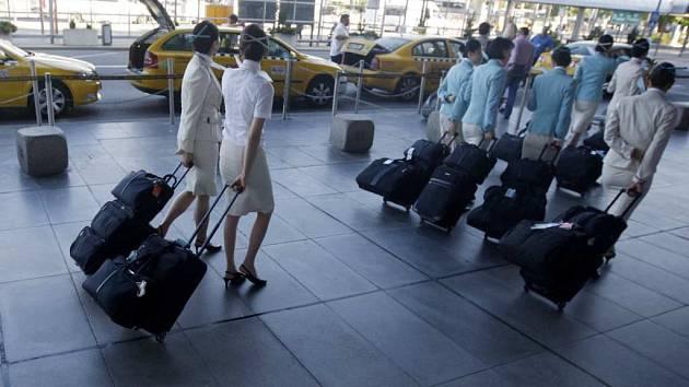 Taxi na Letišti V. Havla. Ilustrační foto.