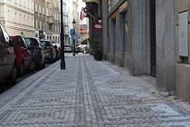 Bílkova ulice v Praze 1 po rekonstrukci.