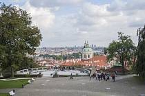 Prohlídka zahrad Pražského hradu.