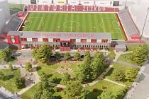 Stadion Viktorie Žižkov - vizualizace.