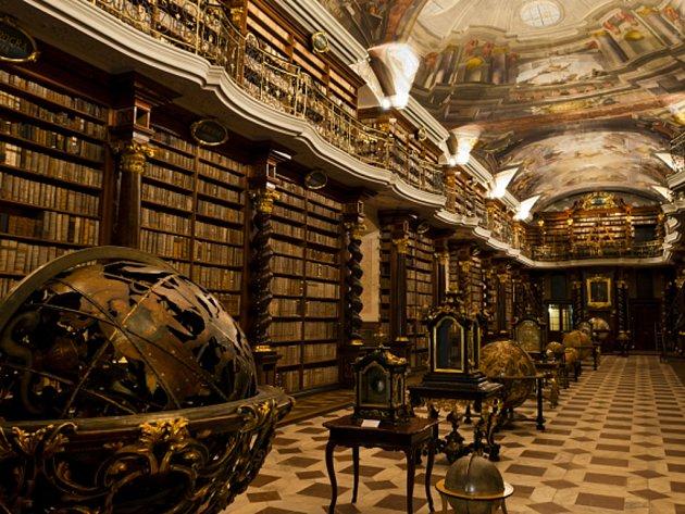 Barokní knihovna Klementinum.