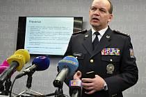 Tisková konference k vyhodnocení policejní akce Alkohol. Na snímku první náměstek policejního prezidenta Martin Vondrášek.