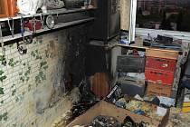 Požár bytu.
