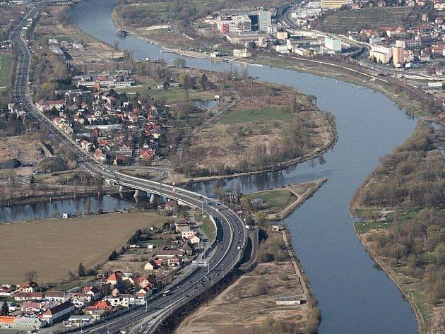 Soutok Berounky a Vltavy. Ilustrační foto.