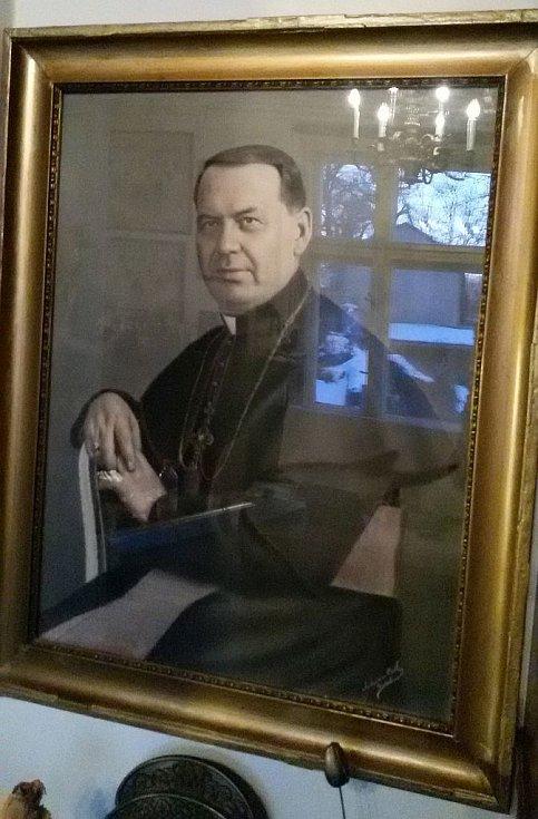 Hrabě, kněz Antonín Bořek Dohalský 1889-1942. Obraz Lysá nad Labem.