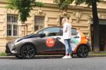 Sdílení aut v Praze.