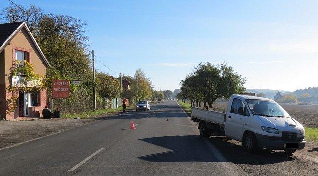 Dopravní nehoda vLouňovicích.