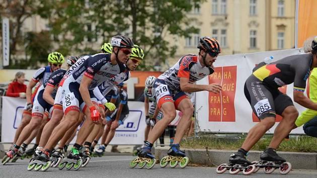 V neděli se v Praze koná závod elitních inlinebruslařů.