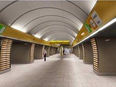 Nová podoba stanice pražského metra B Jinonice