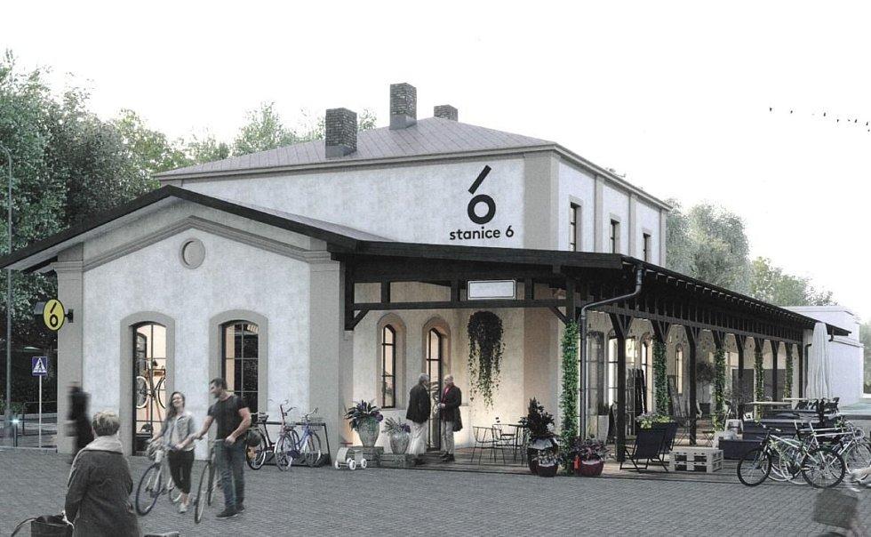 Nádraží Bubeneč získá nový život, vznikne zde komunitní centrum s názvem Stanice 6.