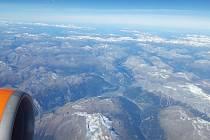 Fotografie, které Martin Stehlík pořídil z letadla.