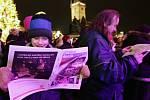 Česko zpívá koledy na Staroměstském náměstí 10. prosince.