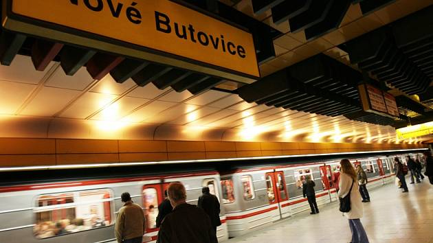 Stanice metra Nové Butovice v Praze. Ilustrační foto.