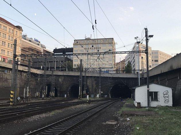 Severní portál vinohradských tunelů.