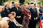 Pietní vzpomínka 14. srpna 2019 u pomníku letců RAF v Praze v den výročí, kdy se českoslovenští letci vrátili z Británie zpět do Prahy v roce 1945.