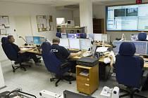 Centrální operační středisko městské policie.