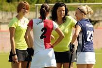 Daniela Kavanová (vlevo) a Helena Babická rozhodující finálové zápasy.