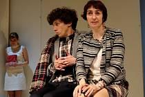 Hana Vagnerová, Jan Cina a Simona Babčáková v divadelní hře s názvem Podivný případ se psem.