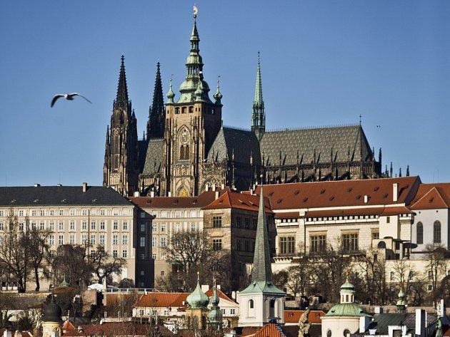 Oblíbené pražské místo rektora Českého vysokého učení technického Petra Konvalinky - katedrála sv. Víta, Václava a Vojtěcha.