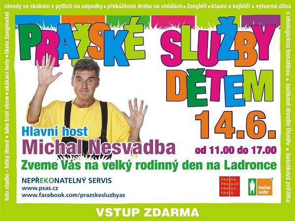 Pozvánka Pražských služeb na velký rodinný den na Ladronce.