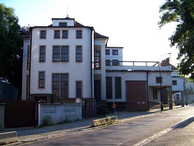 Bývalá tramvajová měnírna na Klárově v Praze.