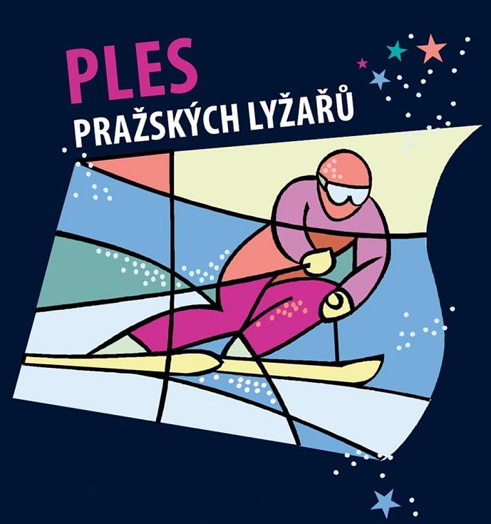 Pozvánka na ples pražských lyžařů v Baráčnické rychtě.