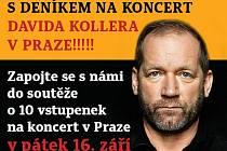 S Deníkem na koncert Davida Kollera v Praze.