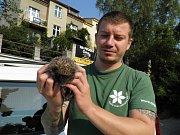 Ošetřovatel a provozovatel Pražské zvířecí záchranky David Zítek