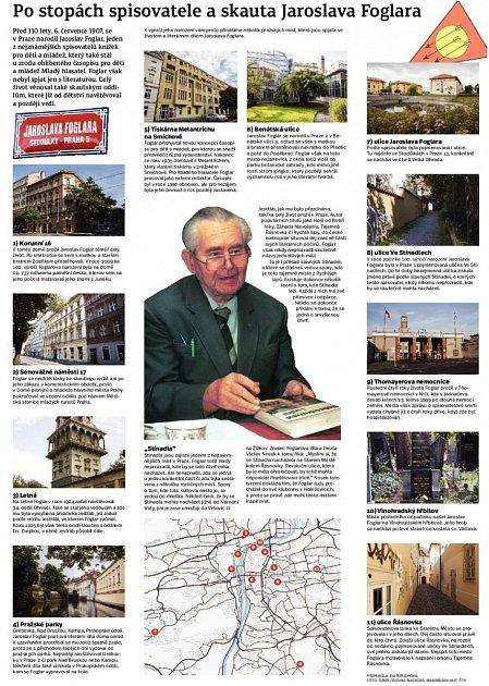 Po stopách Jaroslava Foglara. Infografika.