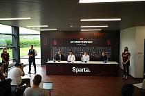Z tiskové konference Sparty před novou sezonou.