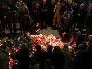Pietní akce 16. ledna 2019 k výročí upálení studenta Jana Palacha.