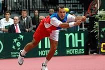 BOJOVNÍK. Radek Štěpánek odvrátil proti Federerovi šest mečbolů, ale z výhry se nakonec radoval Švýcar.