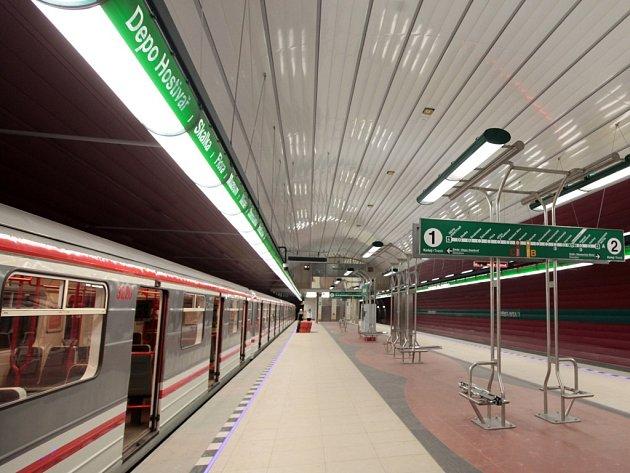 Zelená linka metra. Ilustrační foto.