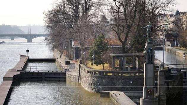 Plavební komora Staré Město. Vizualizace.