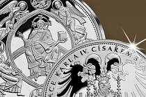 Pamětní medaile k 660. výročí korunovace Karla IV. římským císařem.