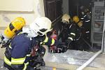 Požár v kuchyni restaurace v Nuselské ulici.