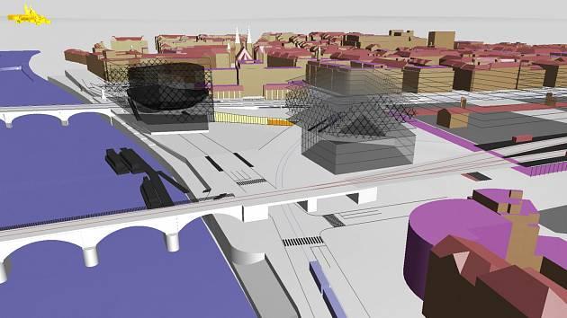 Vizualizace návrhu nové koncertní síně na Vltavské.