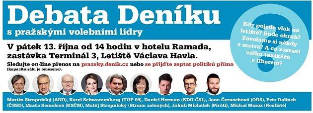 Volební debata Deníku. Infografika.