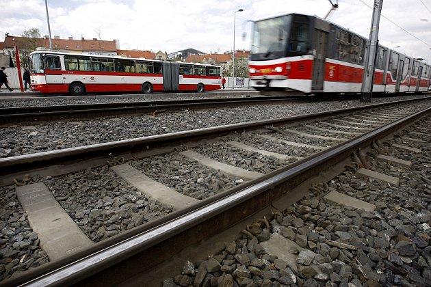 Tramvajová trať v Praze. Ilustrační foto.