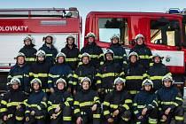 Zásahová jednotka Sboru dobrovolných hasičů v Kolovratech.