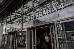 Úřad městské části Praha 4, Centrum služeb Budějovická a Poliklinika Budějovická na snímku z 11. dubna v Praze.
