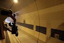 Prohlídka tunelu Blanka před jeho otevřením.