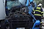 Nehoda v Kbelské ulici.