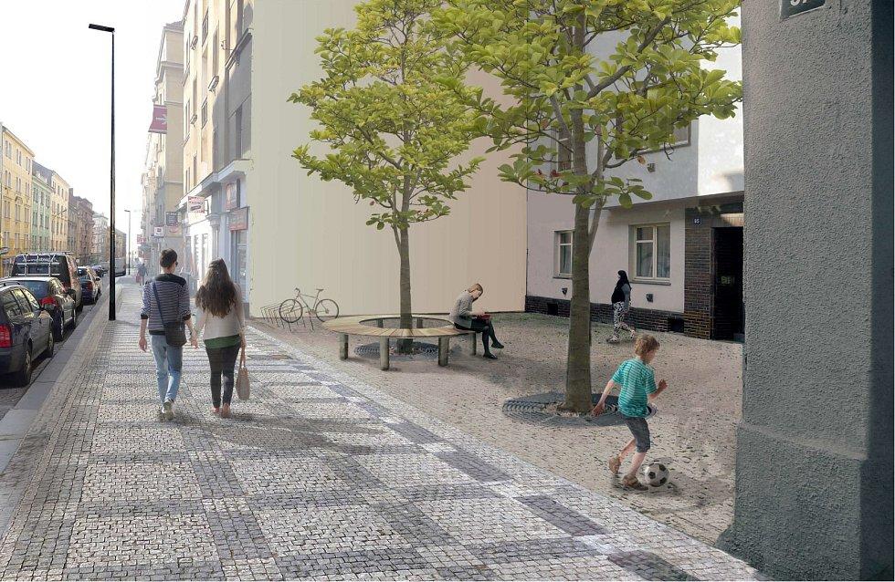 Rekonstrukce ulic Husitská a Koněvova.