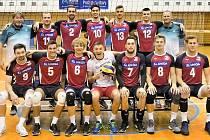 Univerzitní tým. Marek Šulc (číslo 7).