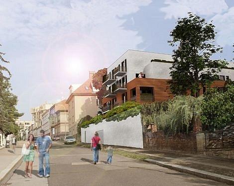 Vizualizace bytového domu, který nahradí restauraci Na Vlachovce.