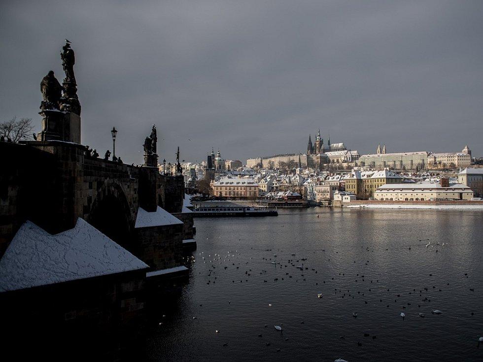 Praha v zimě. Ilustrační foto.