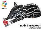 Samolepka s jedním z nejatraktivnějších mláďat narozených do jarní karantény – samečkem tapíra čabrakového Morsem.